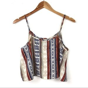 B Jewel Tops - B Jewel | Aztec Crop Tank Top
